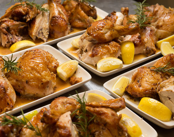 Banquet chicken plates