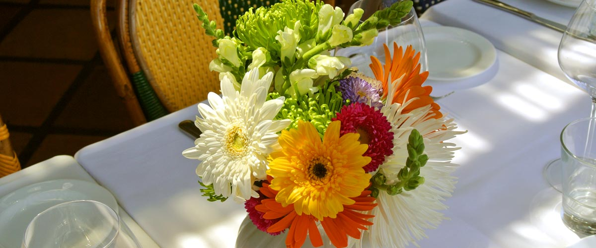 Fresh flowers on the table